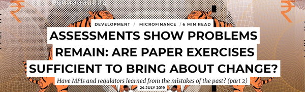 Assessments show problems remain: are paper exercises sufficient to bring about change?